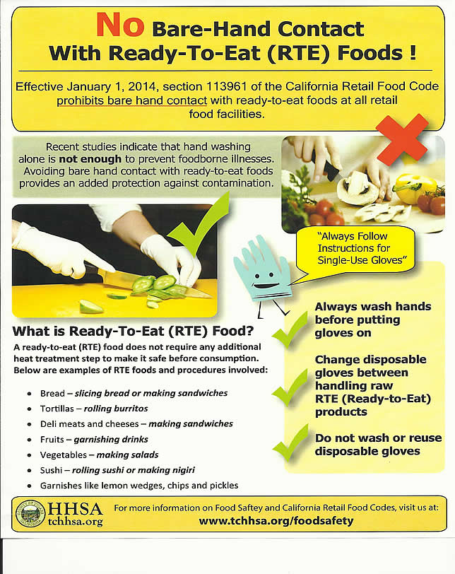 Food Safety Bare Hands ~ Tulare downtown association